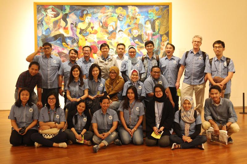 Karyawan DANONE AQUA Berkunjung ke Museum Ciputra Artpreneur
