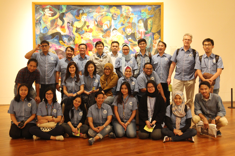 DANONE AQUA employees visit the Ciputra Artpreneur Museum